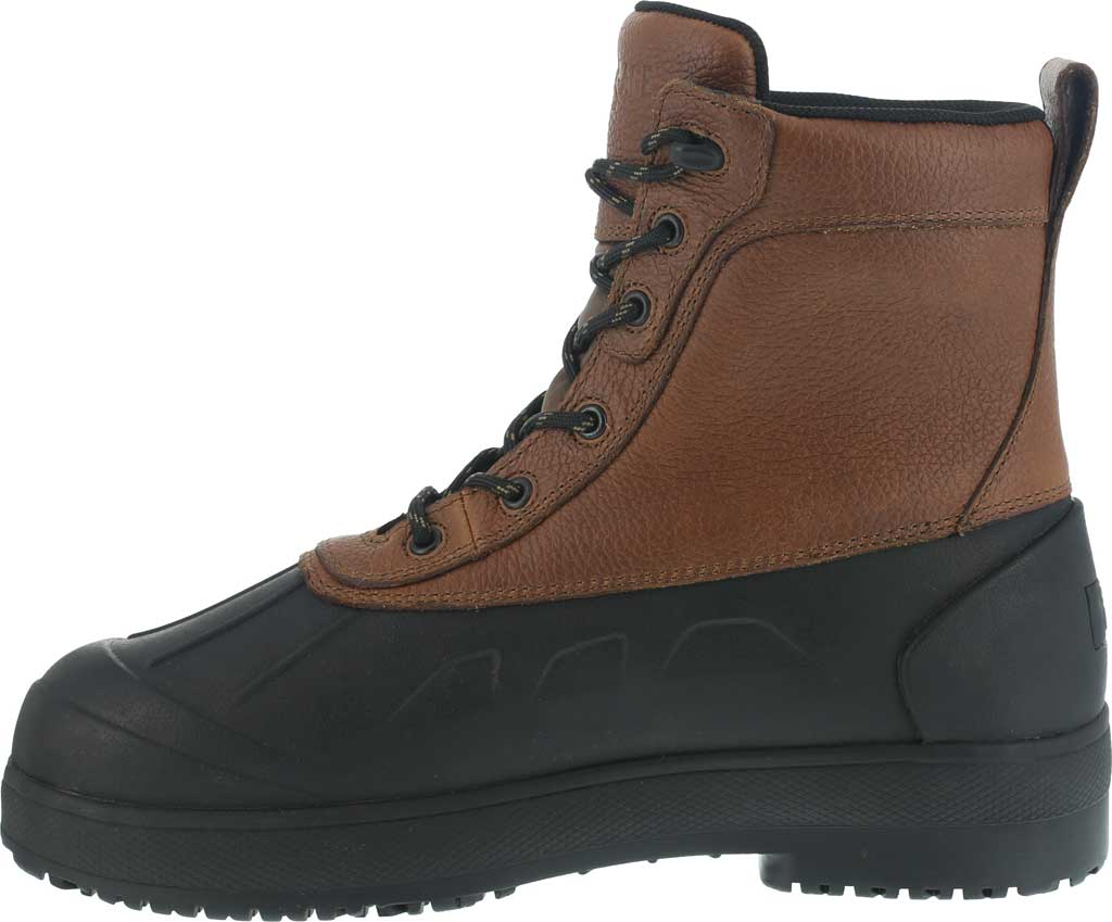 Women's Iron Age Compound Shaft Boot IA965, Black Rubber/Brown Leather, large, image 3