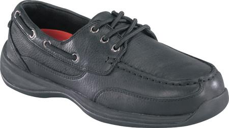 Men's Rockport Works Sailing Club RK6738, Black Leather, large, image 1