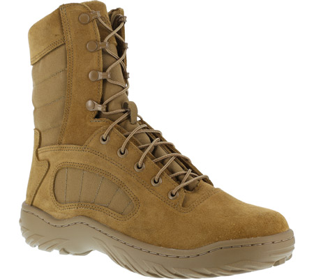 """Men's Reebok Work 8"""" Fusion MAX CM8992 Soft-Toe Military Boot, Coyote Brown Cattlehide Leather, large, image 1"""