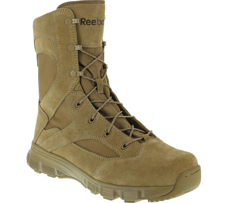 """Men's Reebok Work 8"""" Dauntless RB8822 Soft-Toe Military Boot, Coyote Brown Cattlehide Leather, large, image 1"""