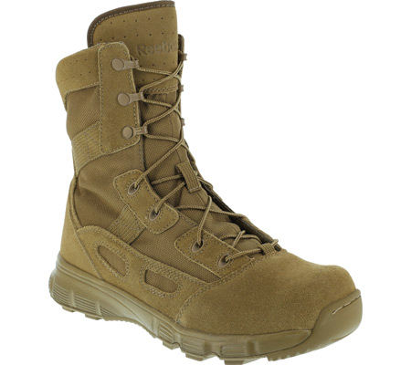"""Men's Reebok Work 8"""" Hyper Velocity RB8281 Soft-Toe Military Boot, Coyote Brown Cattlehide Leather, large, image 1"""