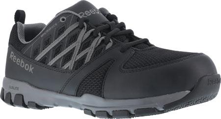 Men's Reebok Work Sublite Work RB4016 Steel Toe Sneaker, Black, large, image 1