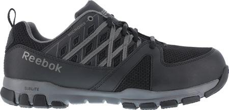 Men's Reebok Work Sublite Work RB4016 Steel Toe Sneaker, Black, large, image 2
