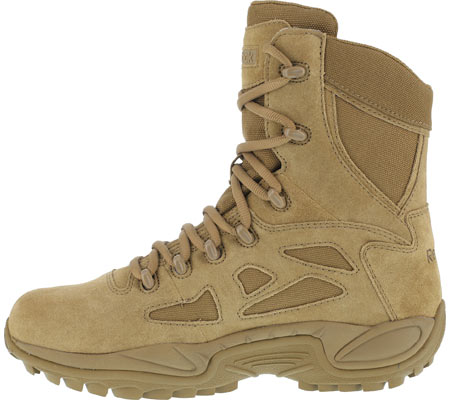 """Women's Reebok Work Rapid Response RB RB897 Stealth 8"""" Tactical Boot, Coyote, large, image 3"""