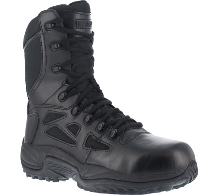 """Women's Reebok Work Rapid Response RB RB888 Stealth 8"""" Tactical Boot, Black, large, image 1"""