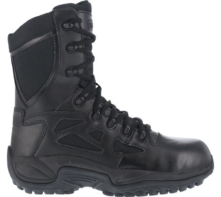 """Women's Reebok Work Rapid Response RB RB888 Stealth 8"""" Tactical Boot, Black, large, image 2"""