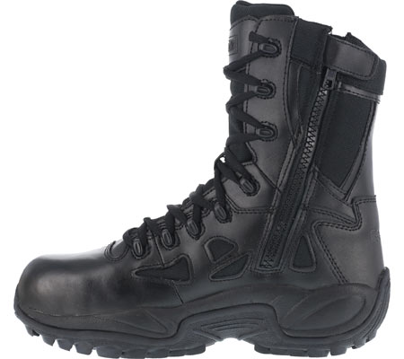 """Women's Reebok Work Rapid Response RB RB888 Stealth 8"""" Tactical Boot, Black, large, image 3"""