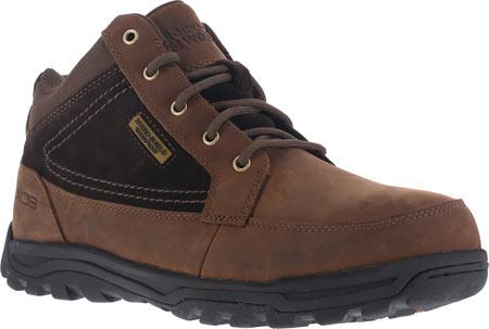 Men's Rockport Works Trail Technique Moc Toe Hiker RK6671, Brown Leather/Suede, large, image 1