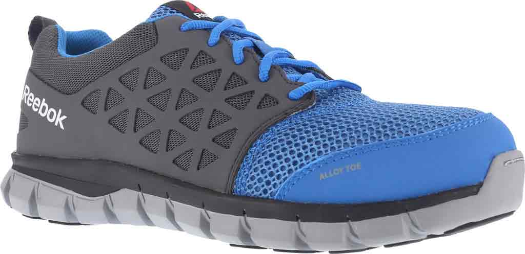 Women's Reebok Work Sublite Cushion RB044 Work Shoe, Blue/Grey Synthetic, large, image 1