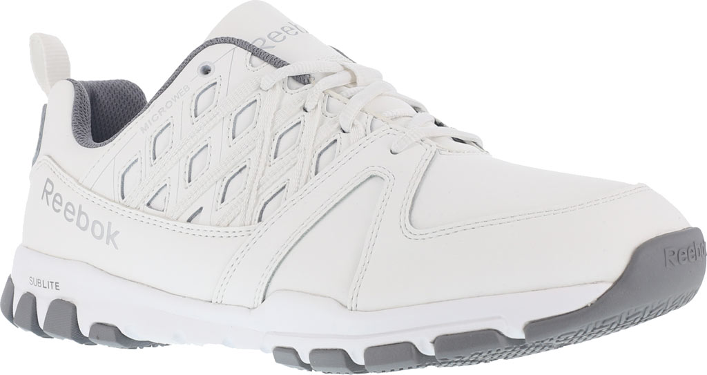 Men's Reebok Work Sublite RB4442 Work Shoe, White Leather, large, image 1