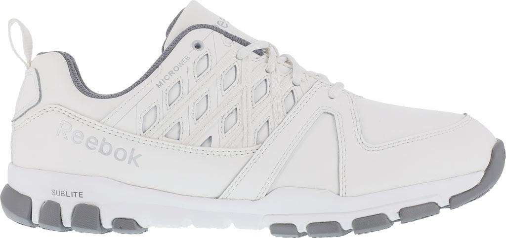 Men's Reebok Work Sublite RB4442 Work Shoe, White Leather, large, image 2