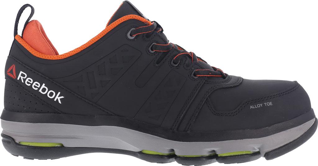 Men's Reebok Work DMX Flex RB3602 Work Shoe, Black/Orange Leather, large, image 2