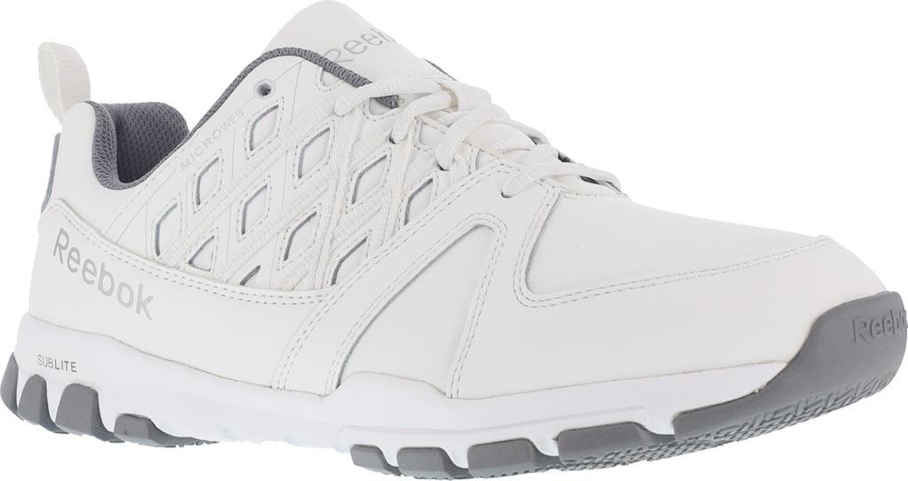 Women's Reebok Work Sublite RB434 Work Shoe, White Leather, large, image 1