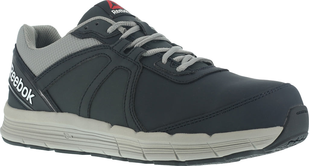 Men's Reebok Work One Guide RB3502 Work Shoe, Navy/Grey Leather, large, image 1