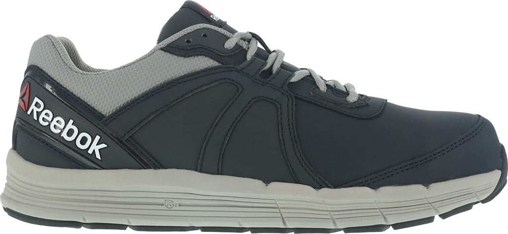 Men's Reebok Work One Guide RB3502 Work Shoe, Navy/Grey Leather, large, image 2