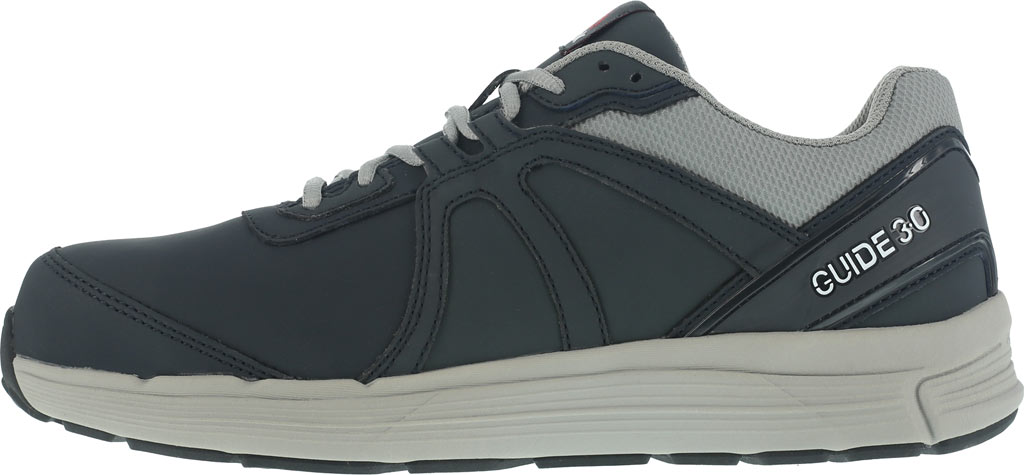 Men's Reebok Work One Guide RB3502 Work Shoe, Navy/Grey Leather, large, image 3