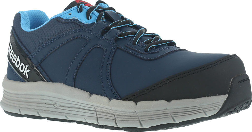 Women's Reebok Work One Guide RB354 Work Shoe, Navy/Light Blue Leather, large, image 1