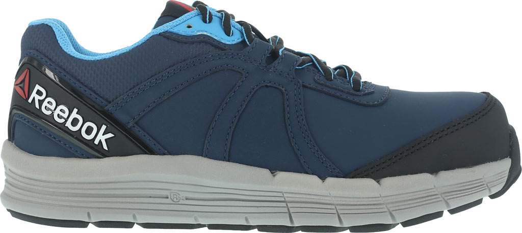 Women's Reebok Work One Guide RB354 Work Shoe, Navy/Light Blue Leather, large, image 2