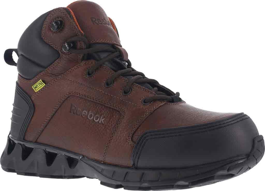 Men's Reebok Work Zigkick RB7605 Work Boot, Dark Brown Leather, large, image 1