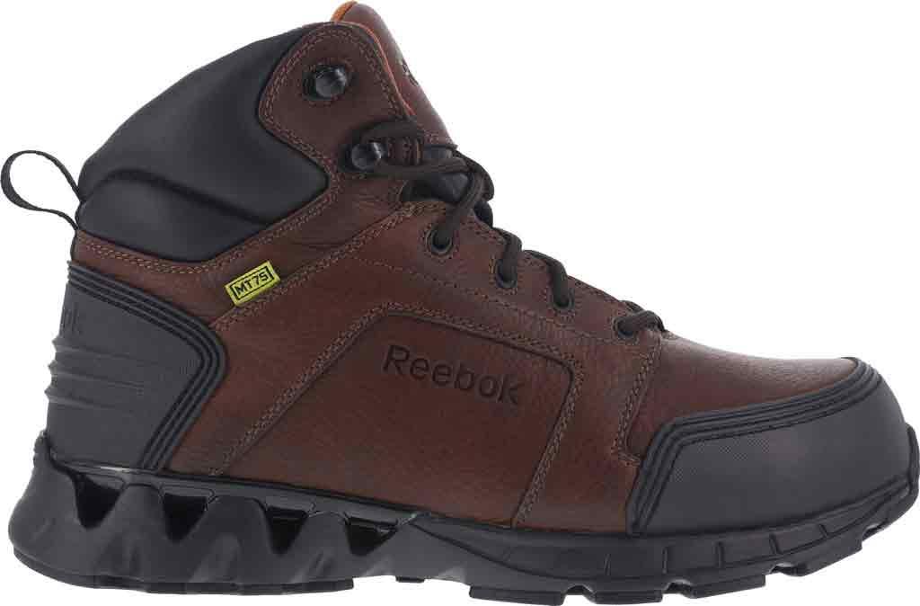 Men's Reebok Work Zigkick RB7605 Work Boot, Dark Brown Leather, large, image 2