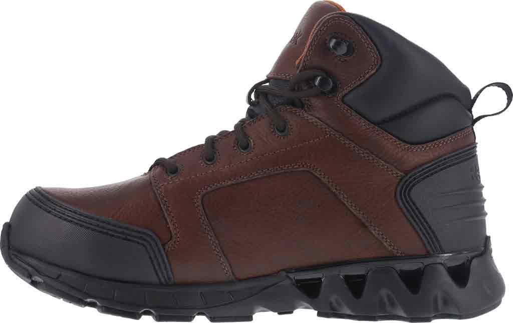 Men's Reebok Work Zigkick RB7605 Work Boot, Dark Brown Leather, large, image 3