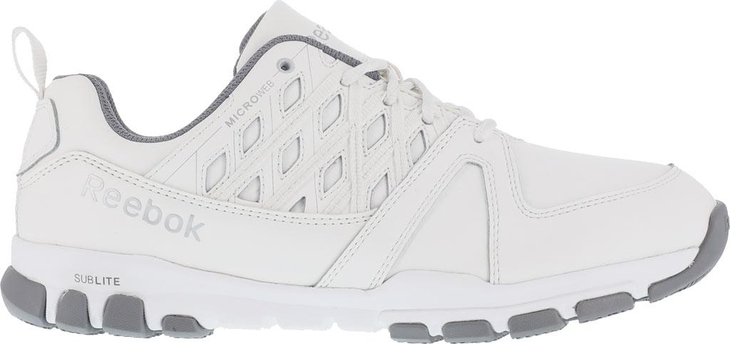 Women's Reebok Work Sublite RB424 Work Shoe, White Leather, large, image 2