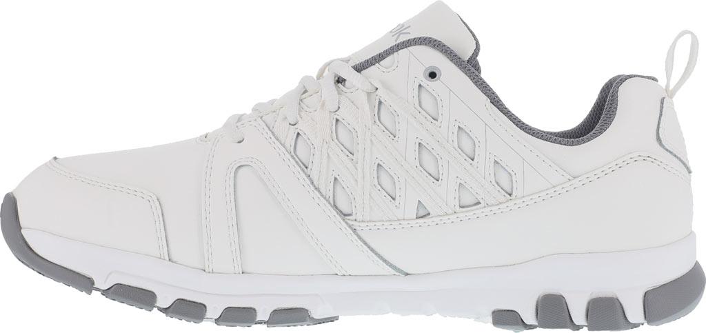 Women's Reebok Work Sublite RB424 Work Shoe, White Leather, large, image 3