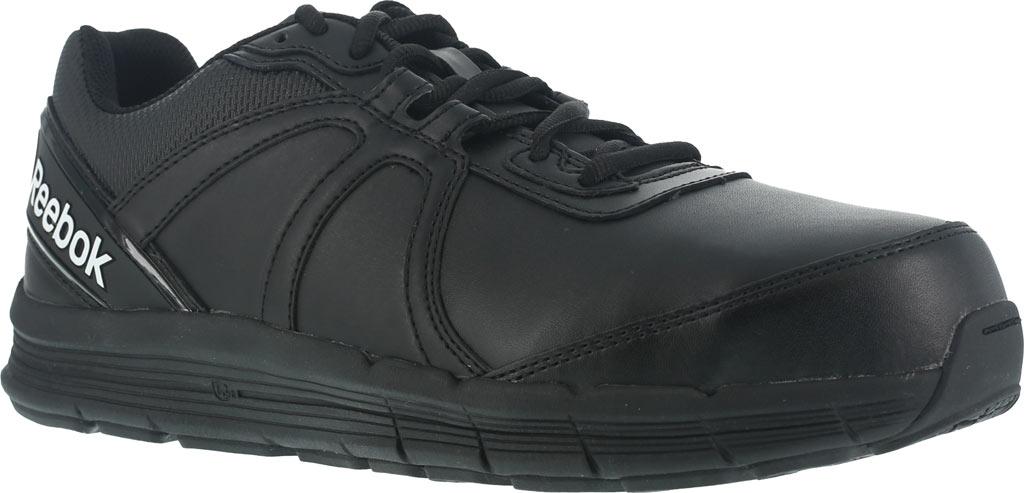 Women's Reebok Work Guide RB351 Work Shoe, Black Leather, large, image 1
