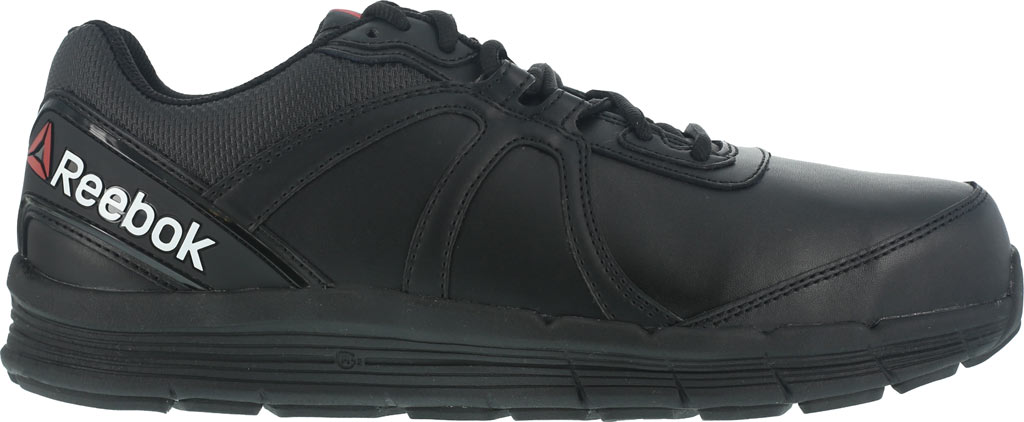 Men's Reebok Work One Guide RB3501 Work Shoe, Black Leather, large, image 2