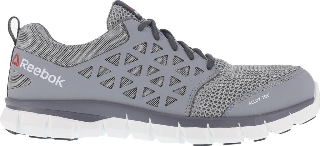 Men's Reebok Work Sublite Cushion RB4042 Work Sneaker, Grey Mesh/Synthetic, large, image 2