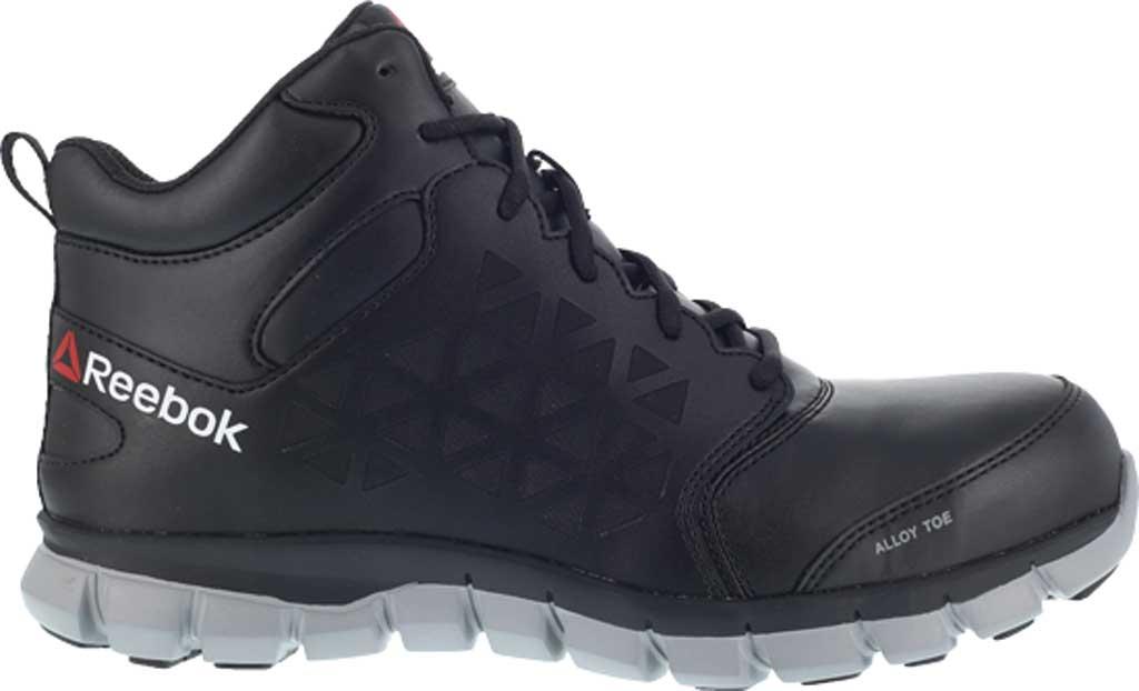 Men's Reebok Work RB4142 Sublite Cushion Work Alloy Toe Work Shoe, Black Leather, large, image 2