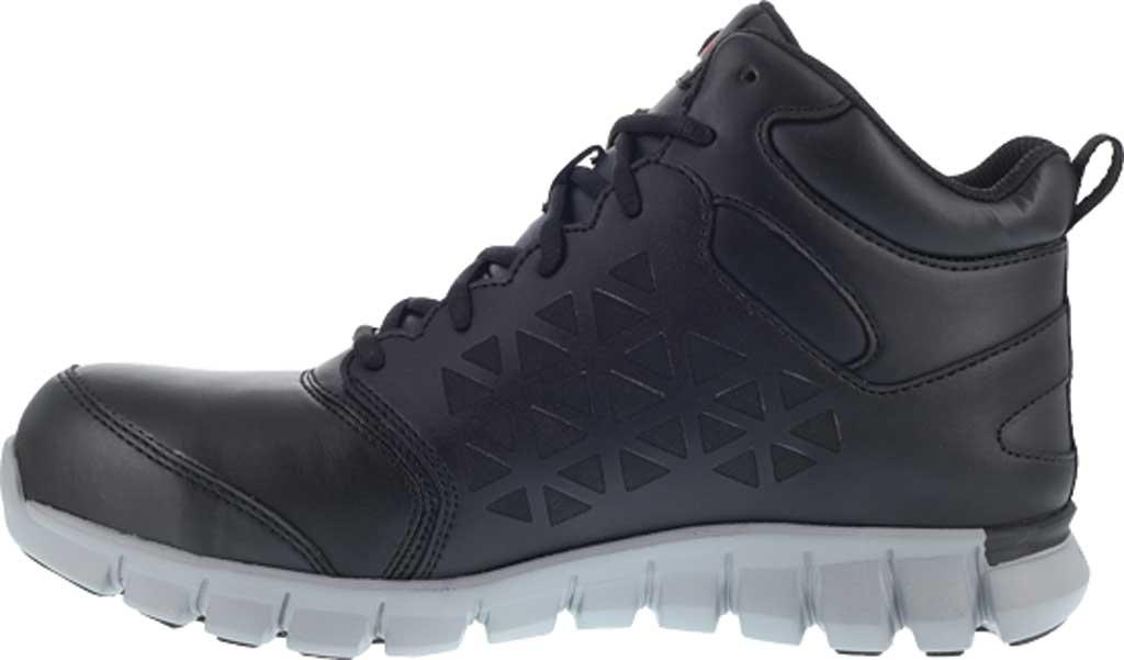 Men's Reebok Work RB4142 Sublite Cushion Work Alloy Toe Work Shoe, Black Leather, large, image 3