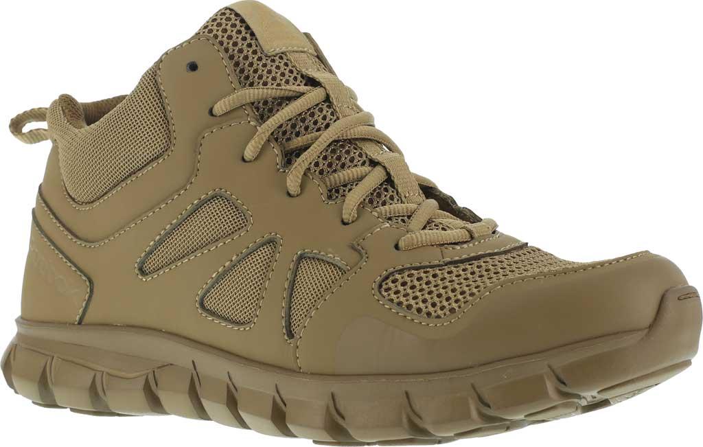 Men's Reebok Work RB8406 Sublite Cushion Tactical Mid ST Work Shoe, Coyote Leather/Ballistic Nylon, large, image 1