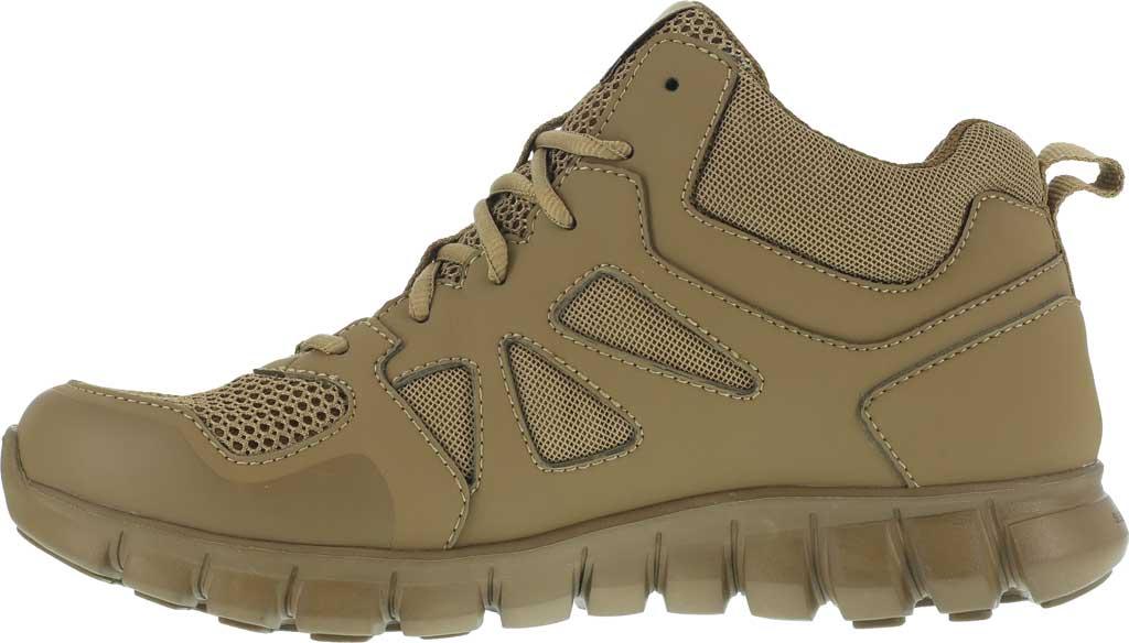 Men's Reebok Work RB8406 Sublite Cushion Tactical Mid ST Work Shoe, Coyote Leather/Ballistic Nylon, large, image 3