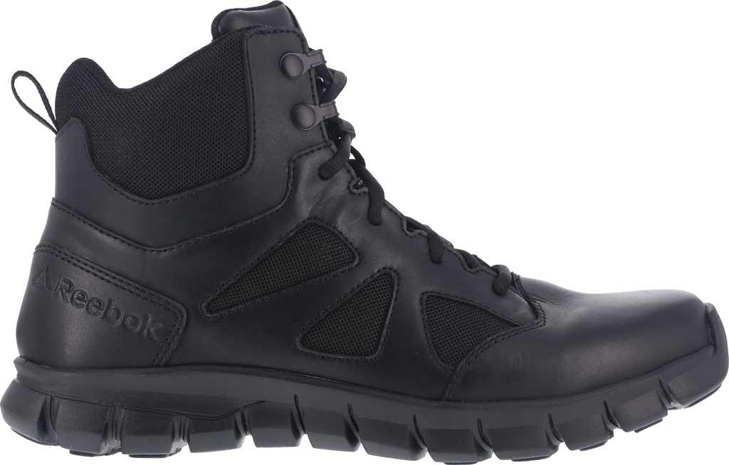 "Men's Reebok Work RB8605 Sublite Cushion Tactical 6"" Soft Toe Boot, Black Leather/Ballistic Nylon, large, image 2"