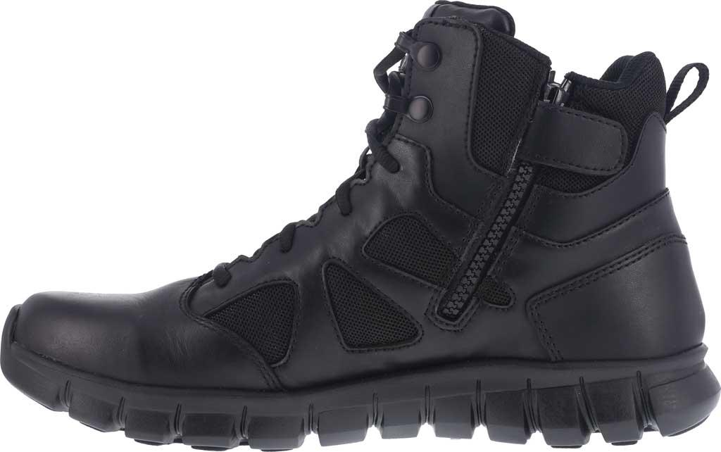 "Men's Reebok Work RB8605 Sublite Cushion Tactical 6"" Soft Toe Boot, Black Leather/Ballistic Nylon, large, image 3"