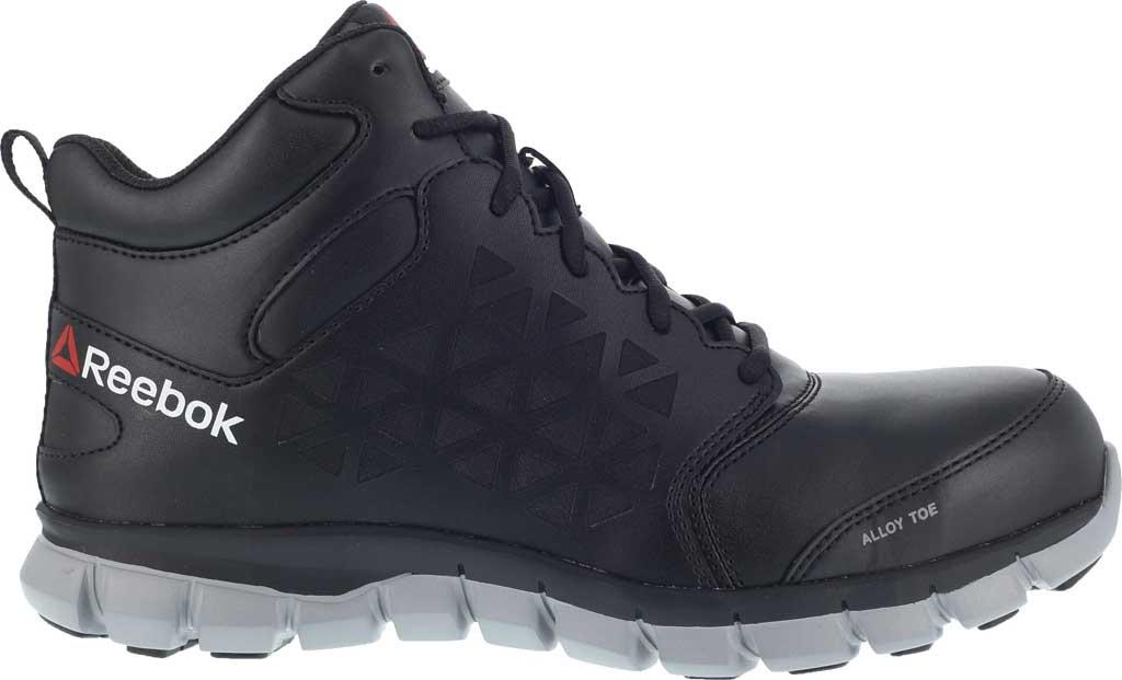 Men's Reebok Work RB4143 Sublite Cushion Work Alloy Toe Work Shoe, Black Leather, large, image 2