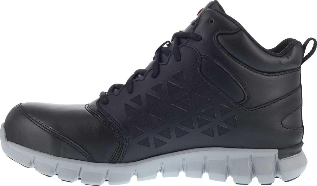Men's Reebok Work RB4143 Sublite Cushion Work Alloy Toe Work Shoe, Black Leather, large, image 3