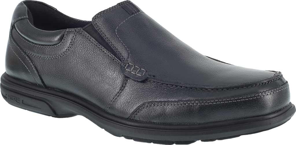 Men's Florsheim Work FE2020 Loedin Steel Toe Slip-On EH Work Shoe, Black Leather, large, image 1