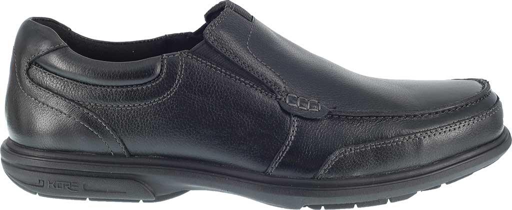 Men's Florsheim Work FE2020 Loedin Steel Toe Slip-On EH Work Shoe, Black Leather, large, image 2