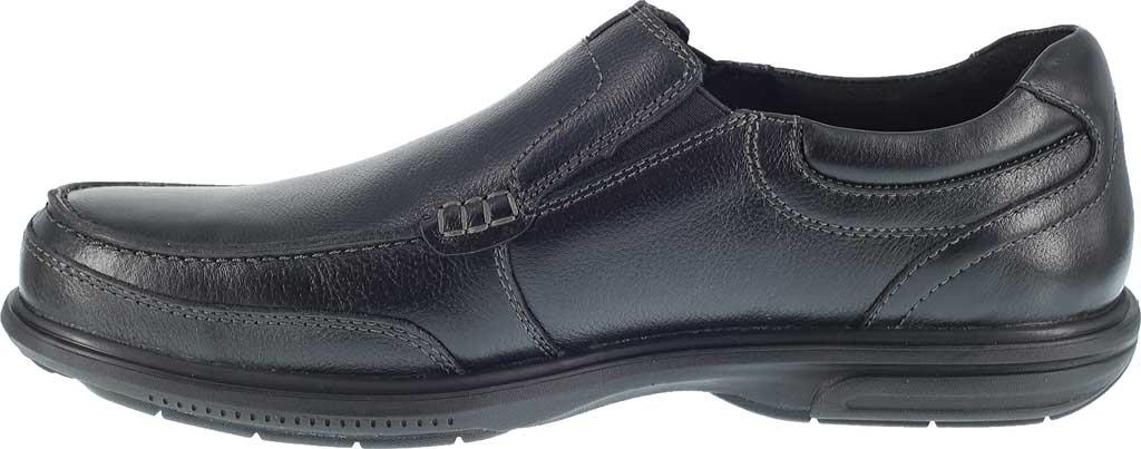 Men's Florsheim Work FE2020 Loedin Steel Toe Slip-On EH Work Shoe, Black Leather, large, image 3