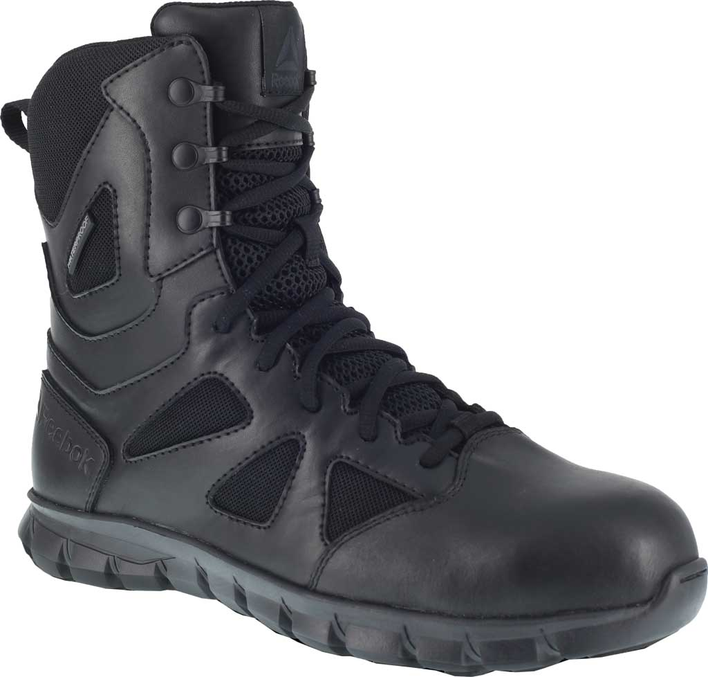 "Men's Reebok Work Sublite RB8807 Cushion 8"" Tactical Boot, Black Cattle Hide Leather/Ballistic Nylon, large, image 1"