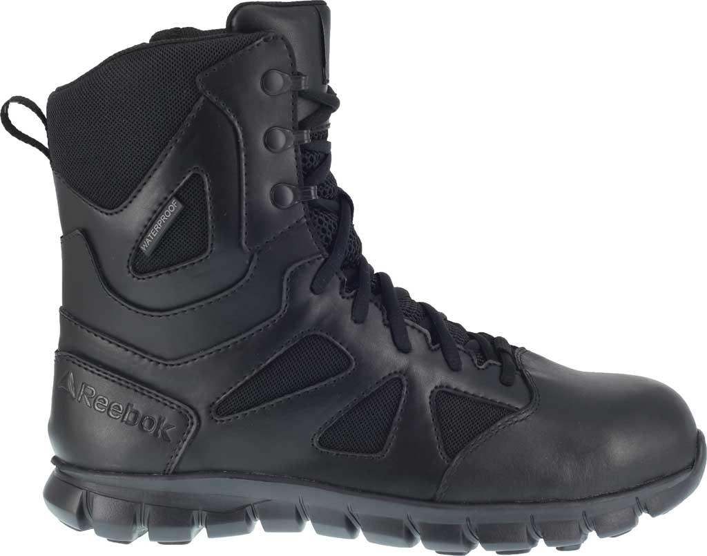 "Men's Reebok Work Sublite RB8807 Cushion 8"" Tactical Boot, Black Cattle Hide Leather/Ballistic Nylon, large, image 2"