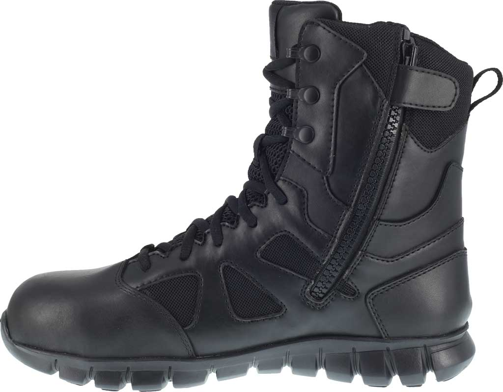 "Men's Reebok Work Sublite RB8807 Cushion 8"" Tactical Boot, Black Cattle Hide Leather/Ballistic Nylon, large, image 3"