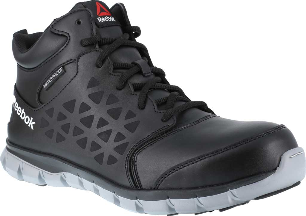 Men's Reebok Work Sublite Cushion Work RB4144 Athletic Boot, Black/Grey Microfiber/Mesh, large, image 1