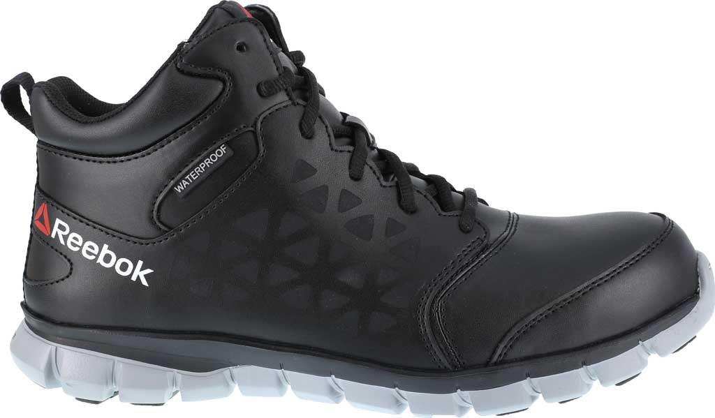 Men's Reebok Work Sublite Cushion Work RB4144 Athletic Boot, Black/Grey Microfiber/Mesh, large, image 2
