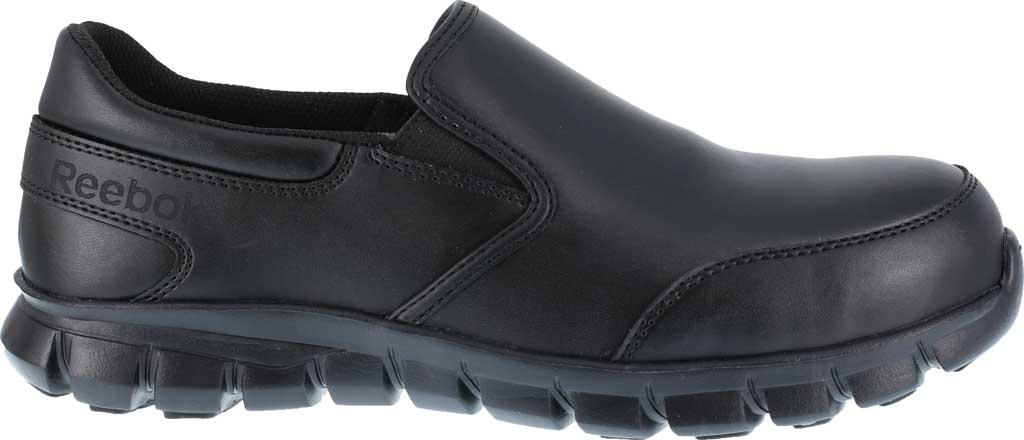 Women's Reebok Work Sublite Cushion RB036 Composite Toe Oxford, Black Leather, large, image 2
