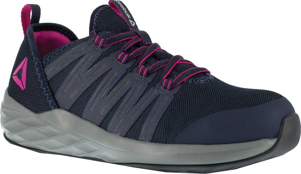 Women's Reebok Work Astroride Work RB308 Steel Toe Work Shoe, Dark Navy/Purple Stretch Mesh, large, image 1