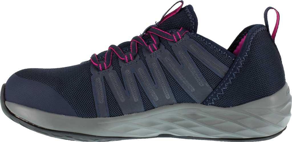 Women's Reebok Work Astroride Work RB308 Steel Toe Work Shoe, Dark Navy/Purple Stretch Mesh, large, image 3