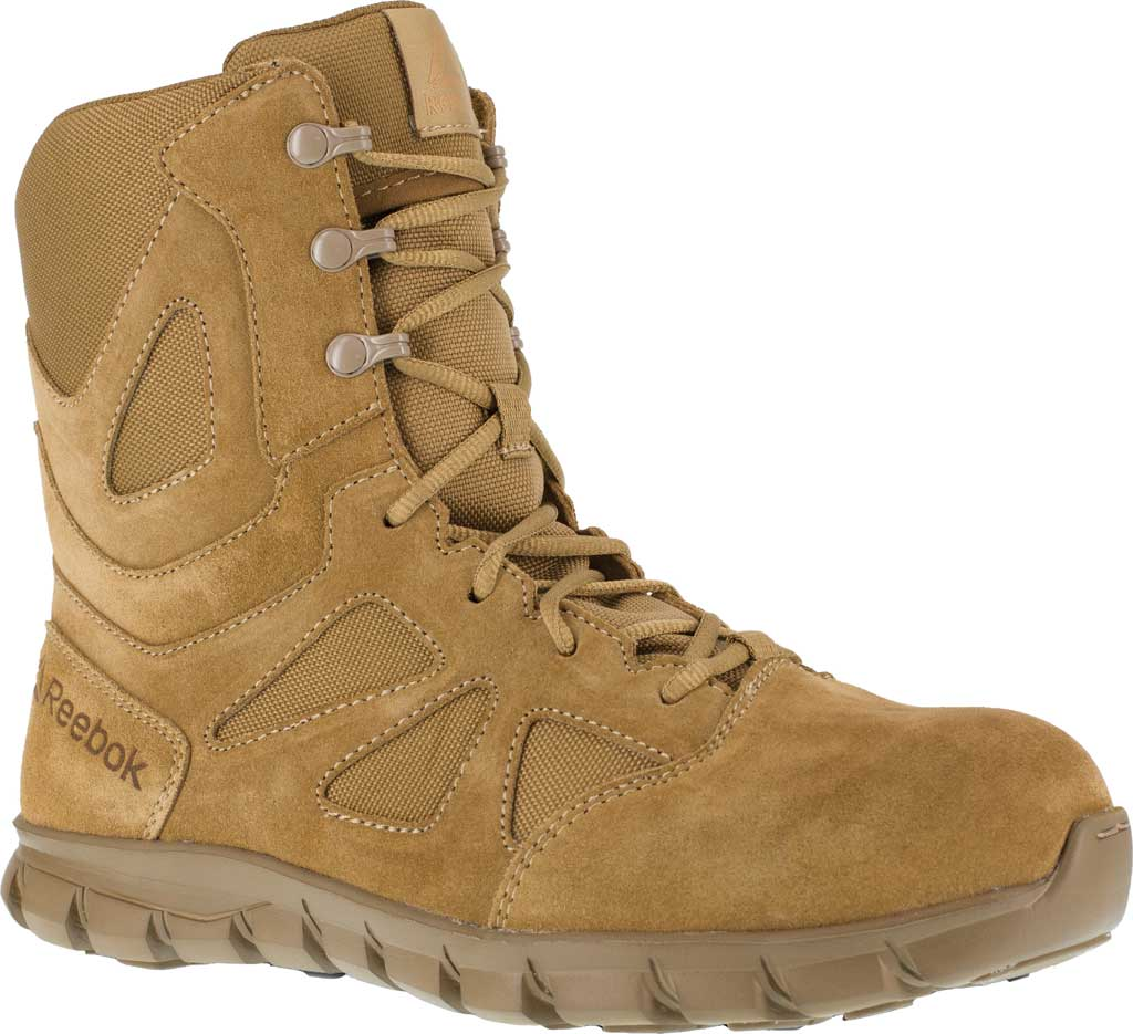 Men's Reebok Work Duty Sublite Cushion Tactical Boot RB8809, Coyote Cattle Hide Leather/Ballistic Nylon, large, image 1